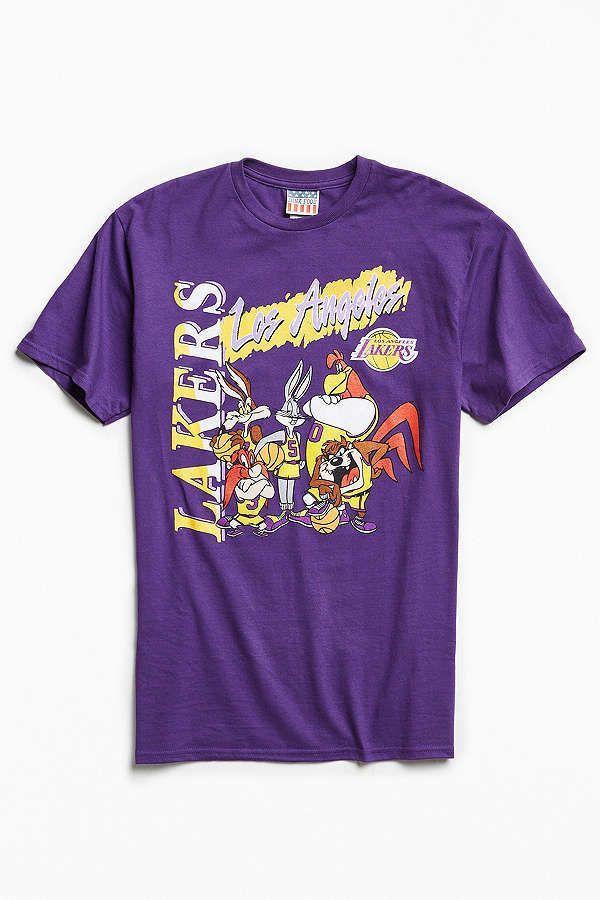 Slide View: 1: Junk Food Looney Tunes Los Angeles Lakers Tee