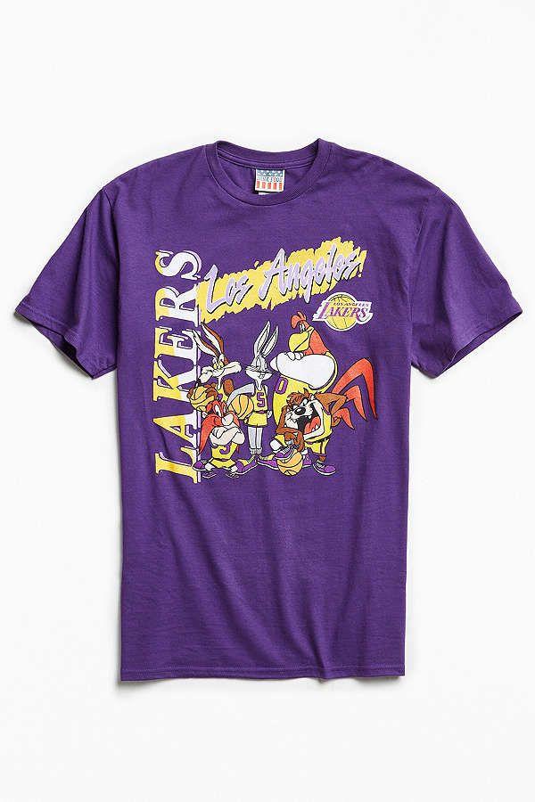 Slide View: 1: Junk Food Looney Tunes Los Angeles Lakers Tee