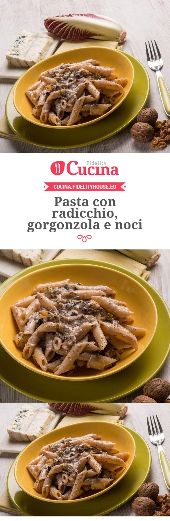 Pasta con radicchio, gorgonzola e noci