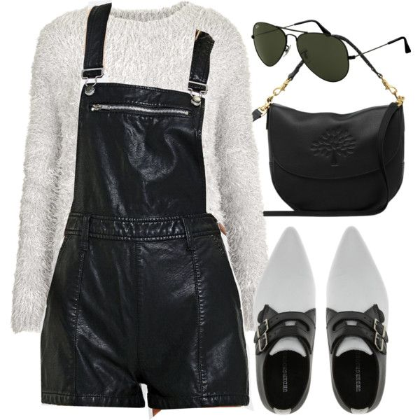 Untitled #4447 by minimalmanhattan on Polyvore featuring moda, Topshop, BDG, Underground, Mulberry and Ray-Ban