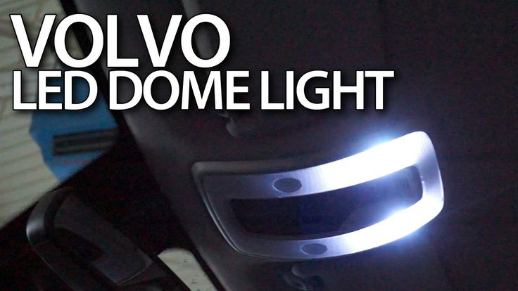 #Volvo interior dome light #LED conversion #C30 S40 #V50 S60 V60 #S80 #V70 #XC70 #cars #tuning