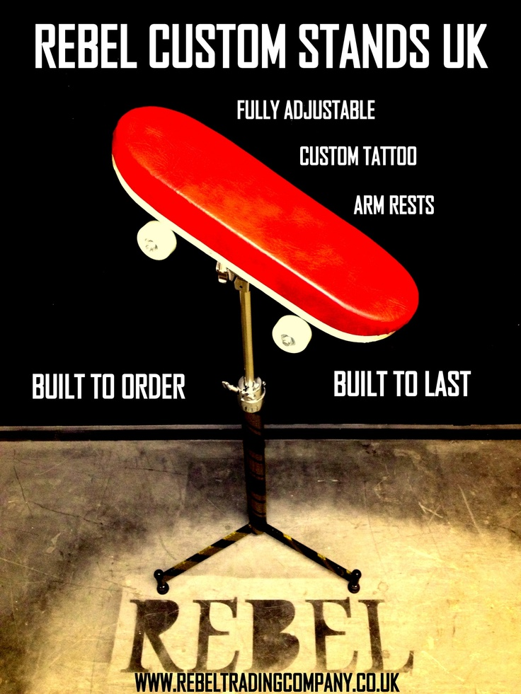 Custom tattoo arm rest promo poster