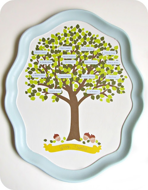 family tree: Silhouette Projects, Crafts Ideas, Family Trees, Trees Crafts, Gifts Ideas, Families Trees Wall, Serving Trays, Trees Projects, Crafty Ideas
