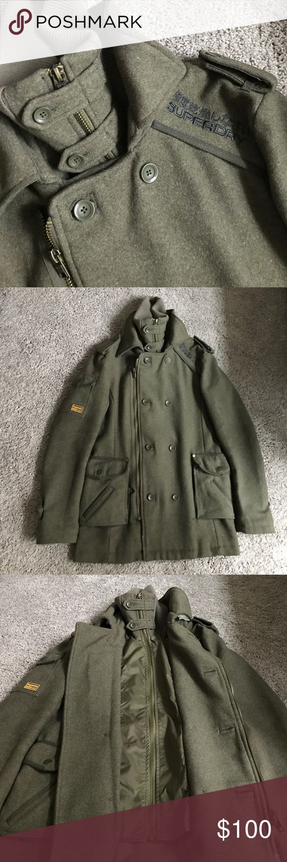 Men's Superdry coat Like new only worn twice for an hour each time. Excellent heavyweight coat for men. Superdry Jackets & Coats Military & Field