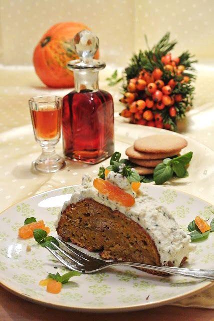 Blogparade-Beitrag: Kürbis-Ingwer-Kuchen mit Minzobers - SPICEblog Der Blog rund um Kochen und Küche