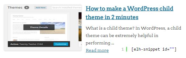 How to display a post snippet with thumbnail, avatar and post excerpt