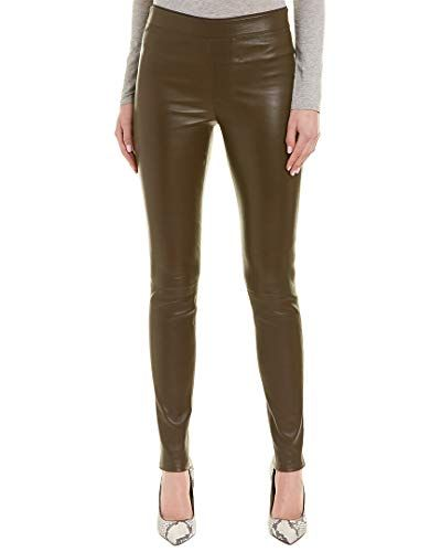 c705cf56317a34 Helmut Lang Womens Leather Stretch Legging, 4, Green,#Womens, #Lang, #Helmut,  #Leather | Fashion Home Editorial | Leather Pants, Helmut lang, Leather