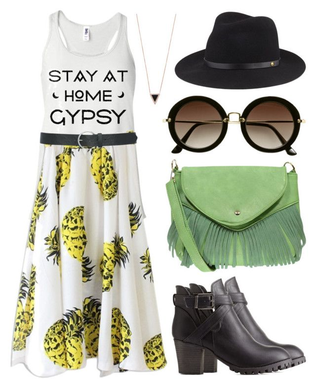 """Stay At Home Gypsy - Festival Outfit"" by teesandtankyou on Polyvore"