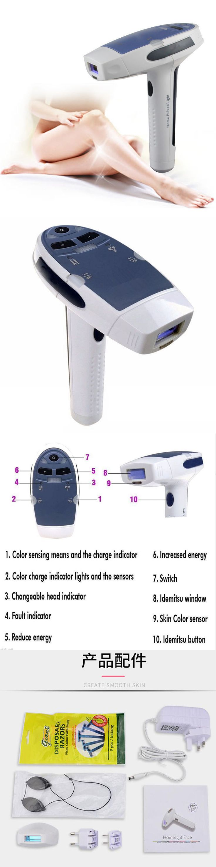 Laser Hair Removal and IPL: New Laser Ipl Permanent Hair Removal Machine For Face And Body Lady Beauty Home -> BUY IT NOW ONLY: $66.12 on eBay!