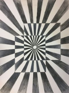 Op Art and Colored Pencil Tutorial – Art 1 (That Little Art Teacher)