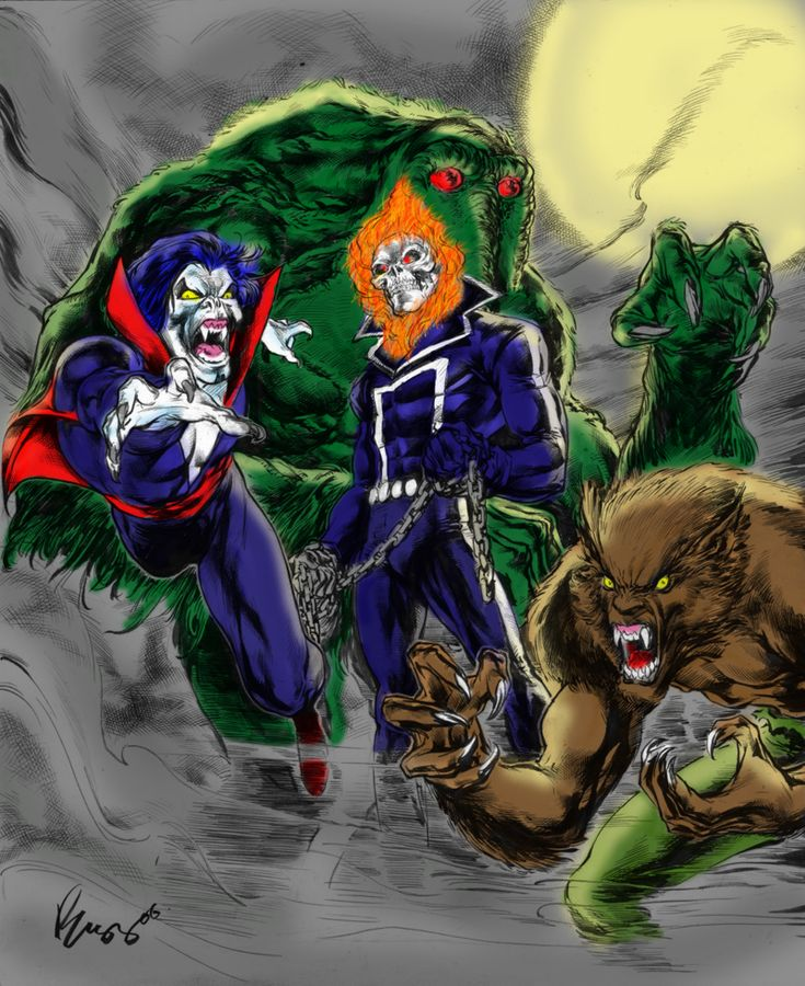 Legion of Monsters - Ghost Rider, Morbius, Man-Thing and Werewolf by Night