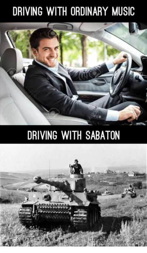 Driving with Sabaton