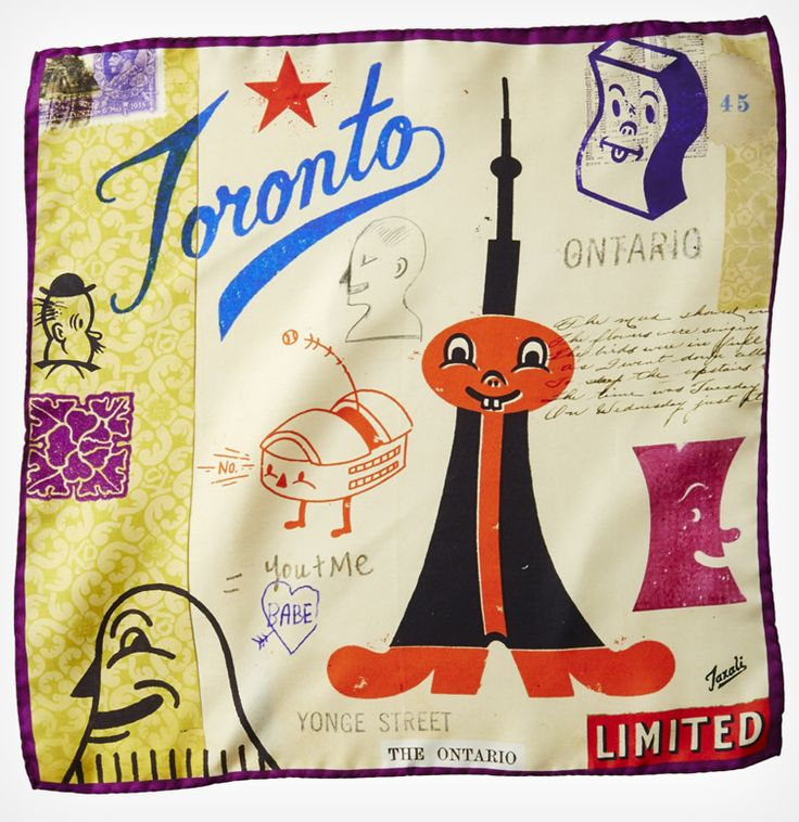 Gary Taxali for Unfamous Pocket Square  http://www.weheart.co.uk/2013/10/24/gary-taxali-for-unfamous-pocket-square/