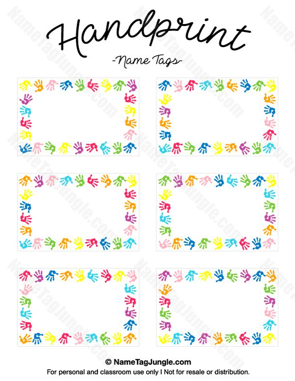 268 best Name Tags at NameTagJungle images on Pinterest Free - name labels templates free