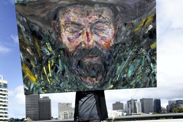 Former Archibald prize winner Adam Cullen - portrayed in this 2011 entry by Enrique Del Val - has died at the age of 47. Expressive