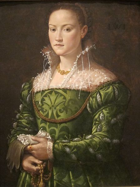 Portrait of a Lady attributed to Alessandro Allori, c. 1560