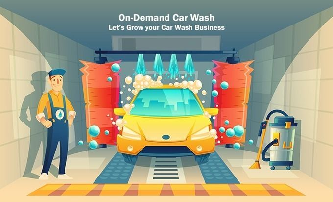 Grow Your Car Wash Business With An On Demand Mobile App Application Development Car Wash Business Car Wash Automatic Cars