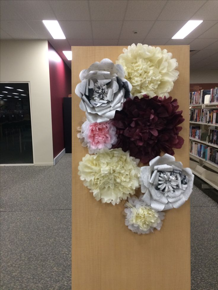 Paper flowers@griffithcitylibrary