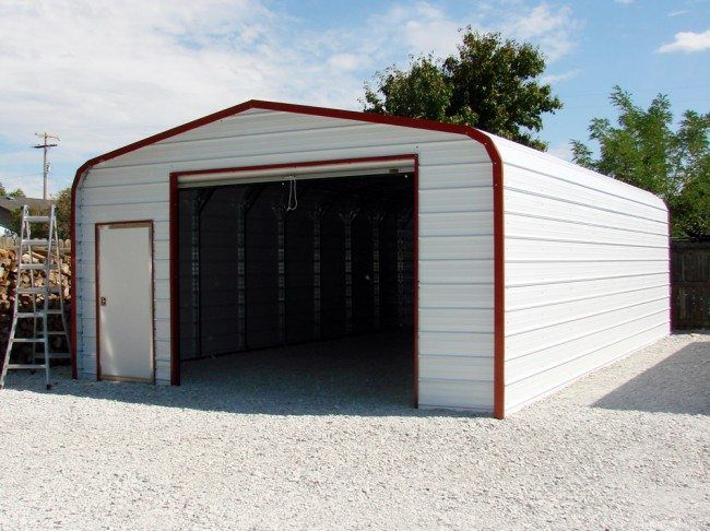 22x36x10 Regular Metal Garage Choice Metal Buildings Metal Buildings Garage Door Styles Garage Door Design