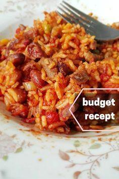 Makkelijk en goedkoop budget recept bruine bonen met rijst. via mindbodylife.nl