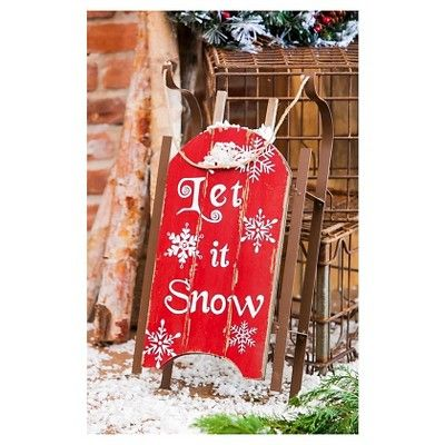 Let it Snow Sled Wall Decor,