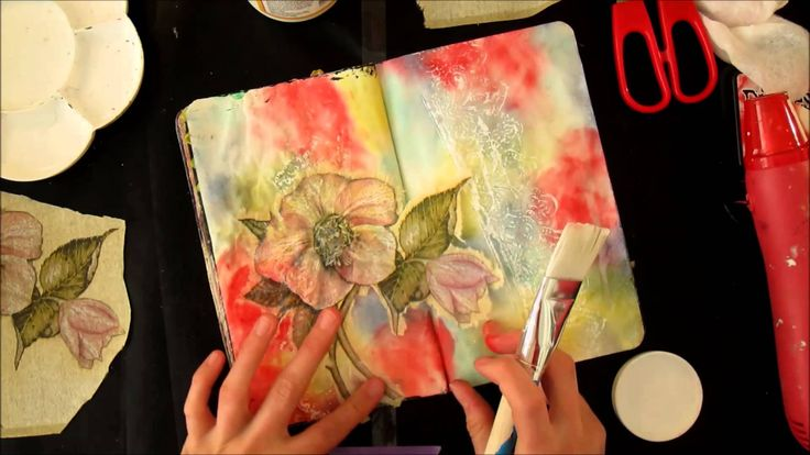 Yes! Finally found some time again to do a video :-D This is a process video of me making an art journal page. If you want to see more details of this page, ...