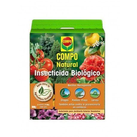 Actúa contra gran variedad de insectos presentes en el jardín, especialmente orugas, polillas, procesionaria en coníferas, mariposas blancas, arañones, larvas de lepidópteros, escarabajo de la patata, etc. Apto para agricultura ecológica