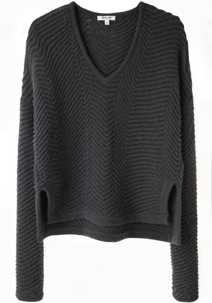 Helmut Lang textured rib pullover