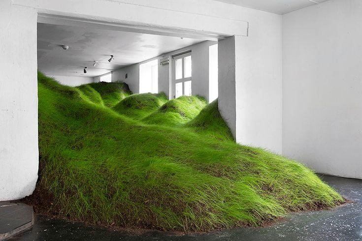 per kristian nygårdがオスロのギャラリーで草地景観を育てる|TOKYO DESIGN WEEK 東京デザインウィーク