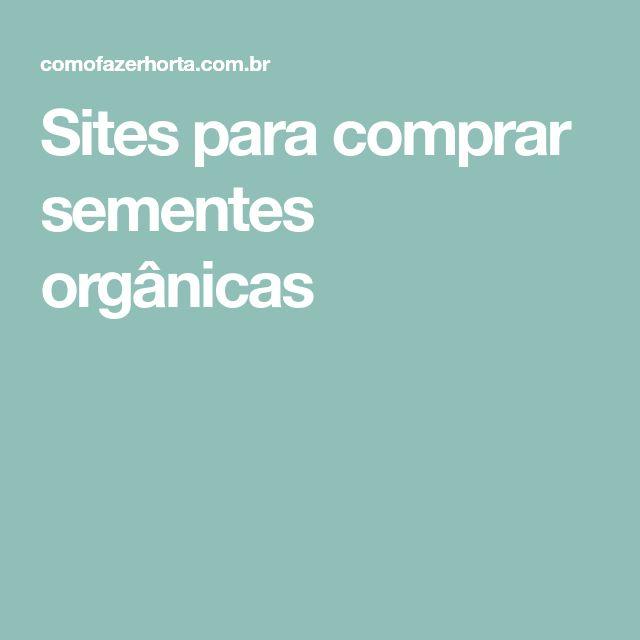 Sites para comprar sementes orgânicas