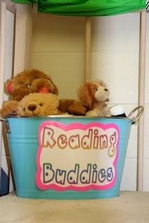 Like this idea for class library: Stuffed Animals, Reading Area, Cute Ideas, Reading Corner, Reading Buddies, Reading Buddy, Kindergarten, Reading Center, Classroom Ideas