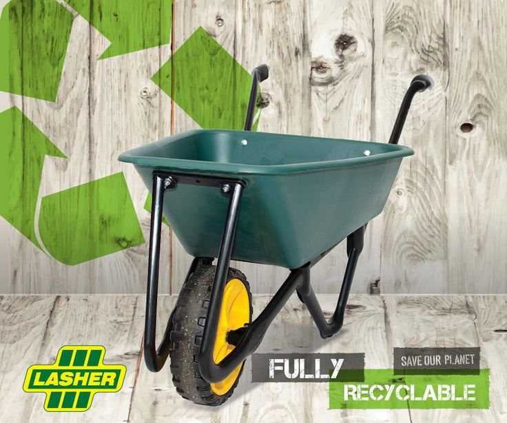 Lasher's fully recyclable wheelbarrow. Aka the Ecobarrow! #gardentools #wheelbarrow #DIY #recyclable