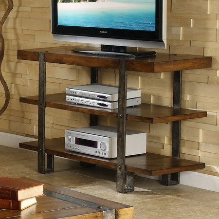 Kelly Media Console Industrial Metals And Rustic