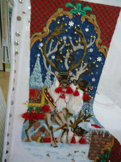 Needlepoint Canvases Christmas Stockings
