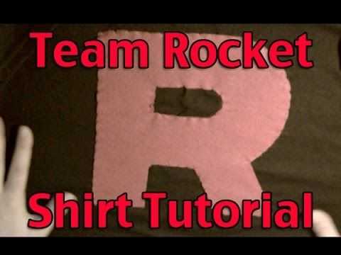 How to make a team Rocket grunt shirt. Very cheap and very easy.