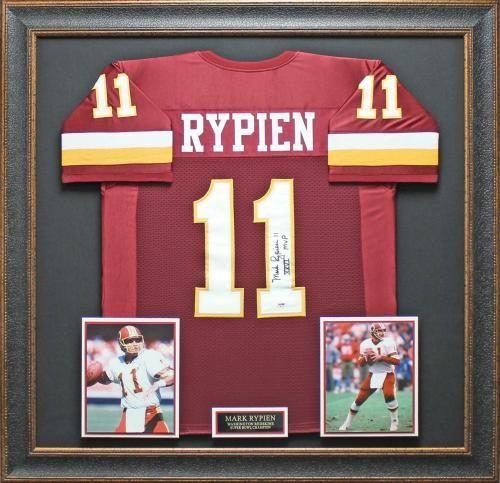 Autographed Mark Rypien Super Bowl Champion matted framed Jersey #HTTR #Redskins #HTTRFanZoneApp
