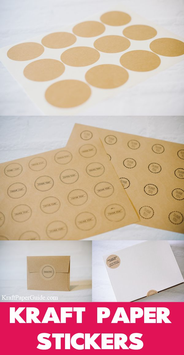 Kraft Paper Stickers. // Customize with your printer or by hand stamping. They are perfect for gift wrapping, personalizing stationary, or even as address labels.