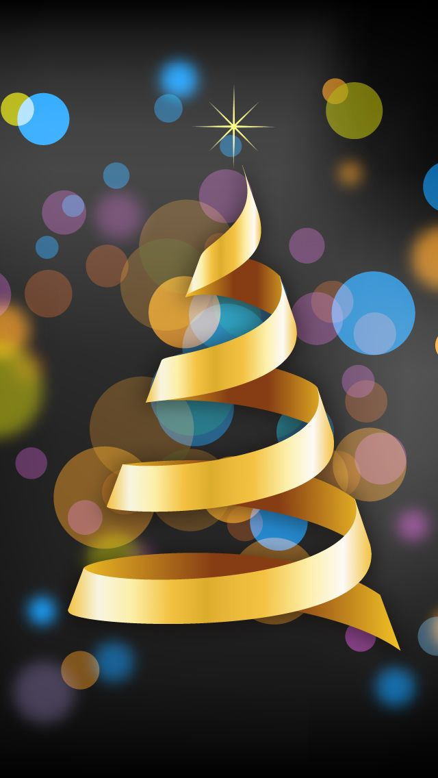 CHRISTMAS TREE, IPHONE WALLPAPER BACKGROUND: