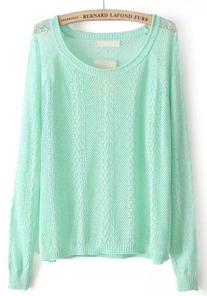 Comfy Mint Sweater