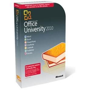 Software Suites : Microsoft Office 2010 University With Service Pack 1 32/64-bit - Complete Product - $99.99 Microsoft Office University 2010 helps make your assignments shine. It brings together our top-of-the-line tools to help you create professional-looking documents and presentations, and stay organized and connected.