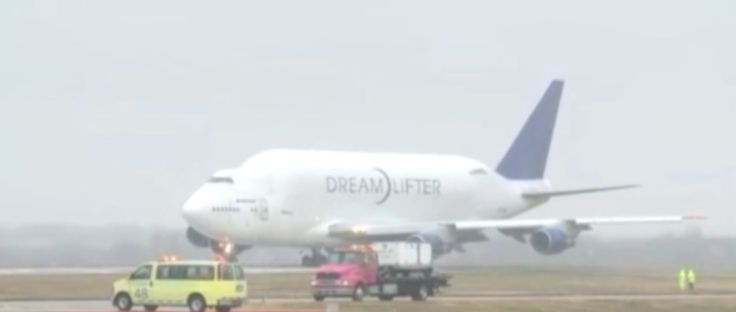 Boeing Dreamlifter Takeoff Jabara Airport Wichita KS