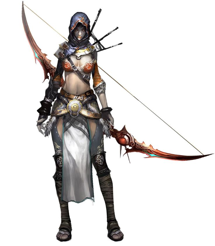 Female Bow Character Concept