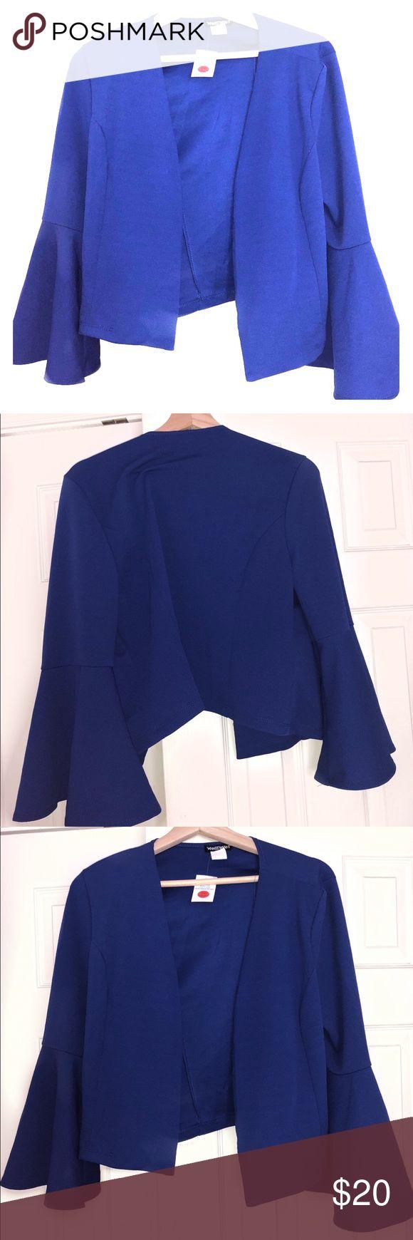 Royal Blue Blazer Royal Blue Blaszer. Fits at waist. Flare sleeves. Jackets & Coats Blazers