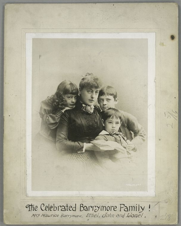 The Celebrated Barrymore Family! Mrs. Barrymore, Ethel, Lionel and John