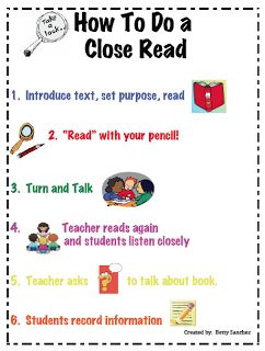 """First grade purposing the lesson charts   The Lesson Cloud: FREE LANGUAGE ARTS LESSON - """"Close Read Anchor ..."""