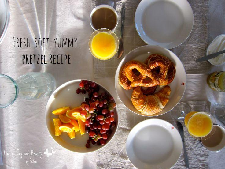 Pretzel recipe! Fresh, yummy, delicious! http://findingjoyandbeauty.blogspot.fi/2013/10/in-kitchen-pretzel-recipe.html