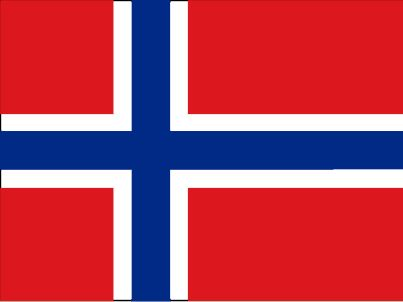 The flag of Norway was officially adopted on July 17, 1821. The red, white and blue colors are said to be influenced by the French Tricolore (as a symbol of liberty). Inspiration also came from the flags of the United Kingdom and the United States. The off-centered white cross (The Scandinavian Cross) is taken from the Danish flag, and the blue cross is the Cross of Sweden
