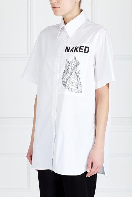 Хлопковая рубашка ZDDZ - Классическая хлопковая рубашка из коллекции российского бренда ZDDZ в интернет-магазине модной дизайнерской и брендовой одежды
