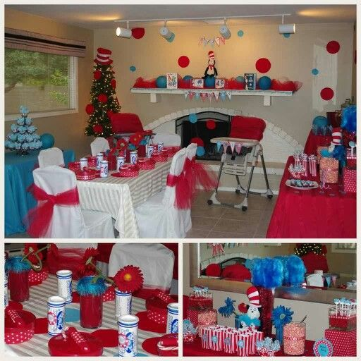 Thing 1 Thing 2 Baby Shower Decor Ideas
