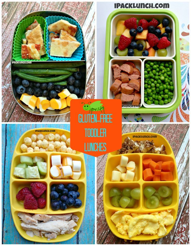 These lunches are designed for toddlers but look tasty to me!  Perfect for snacking throughout the day!